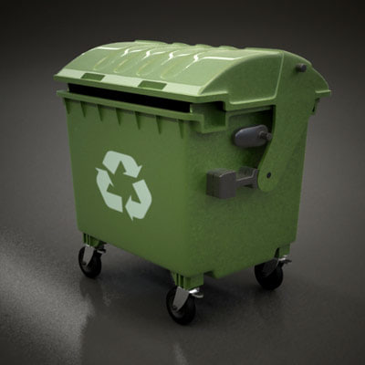 3d model garbage container