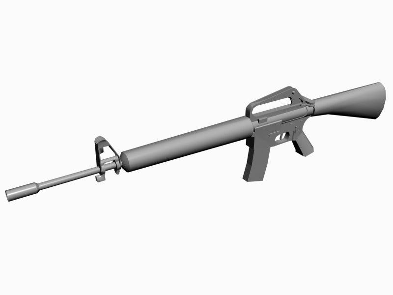 m16a1 rifle m16 3d 3ds