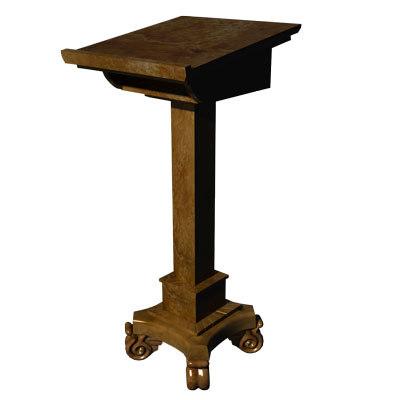 3d lectern podium
