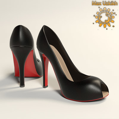shoes woman christian louboutin 3d model