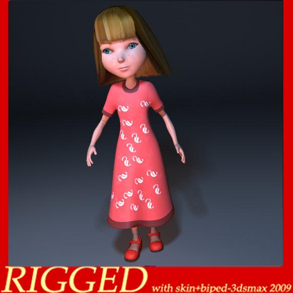 girl human kid 3d model