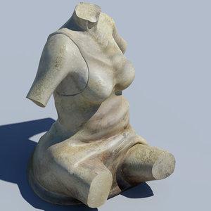statues pillars elements 3d model