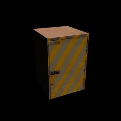 3d model diagonal striped box