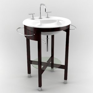 3d model bathroom sink
