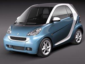 3d model smart 42 fortwo 2011
