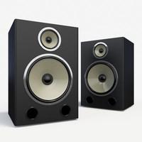 3d model speakers home