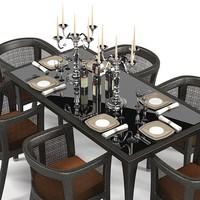 modern dining table 3d model