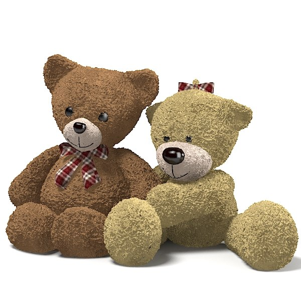 teddy bear toy 3d max