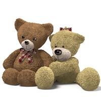 teddy bear toy 3d max