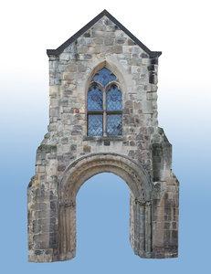 medieval gate town 3d model