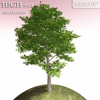 tree high-poly leaves 3d model
