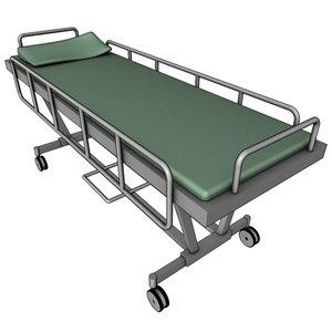 3d hospital bed