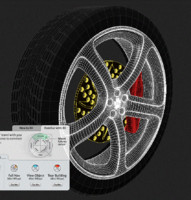Wheel with brake