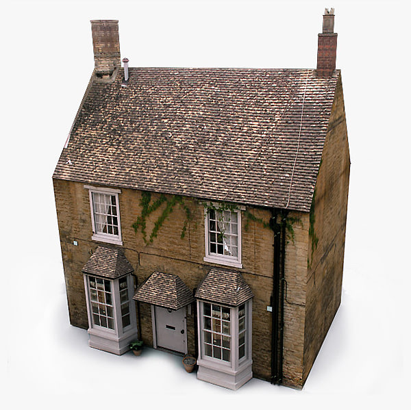 english village house 3d model