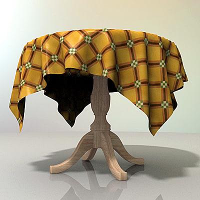 table tablecloth mesa mantel 3d model