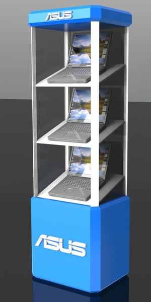 3d display stand model