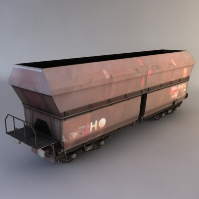 train cargo 3d obj