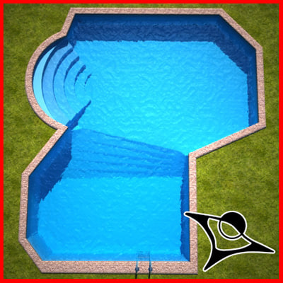 3dsmax swimming pool