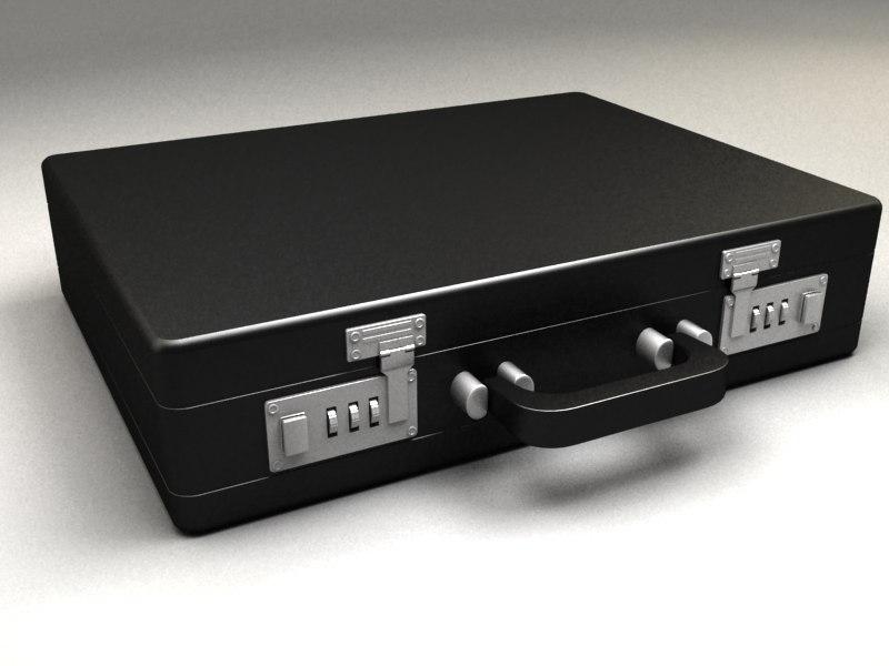 3d model suitcase black case