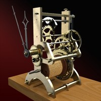 3d timepiece clock nathaniel dominy