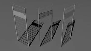 free large fence 3d model