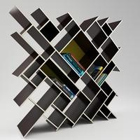 3d modern shelf