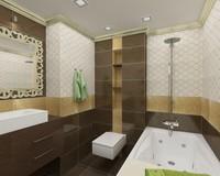 bathroom scene v-ray max