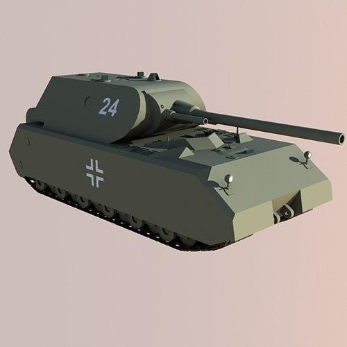 3d model panzerkampfwagen viii maus