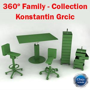 3d family konstantin grcic -