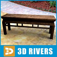 classic chinese bench 3d model