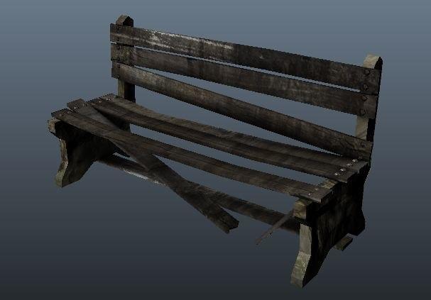 obj broken bench