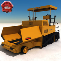 asphalt paver rp701j 3d model