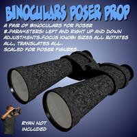 3d model binoculars poser prop