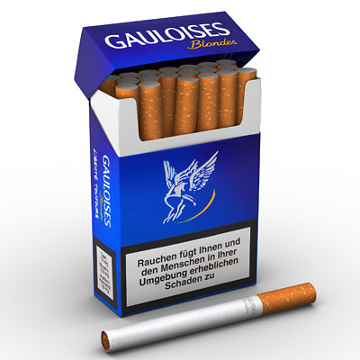 cigarettes scene 3d model