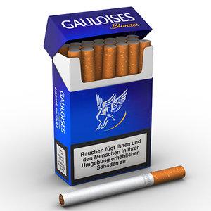 cigarettes scene 3d model