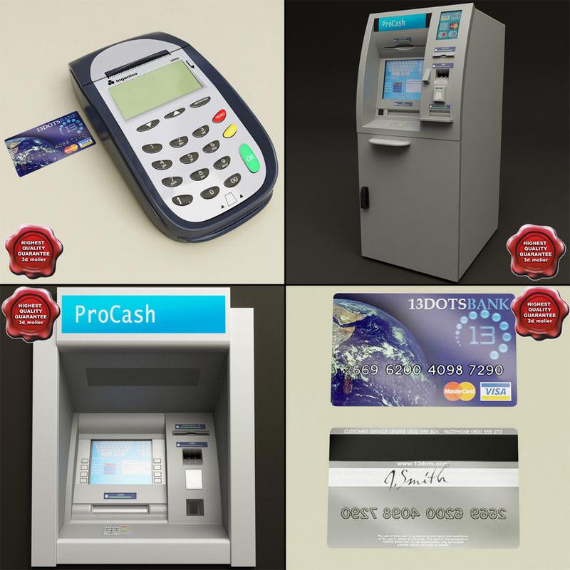 cash machines 3d model