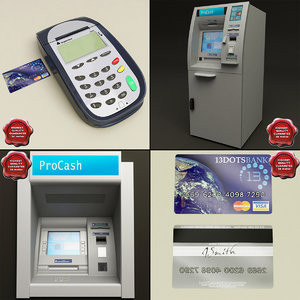 cash machines 3d model