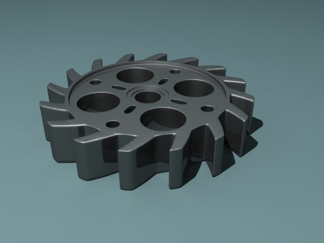 3ds max gear industrial
