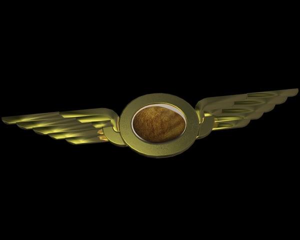 badge wing 3d model