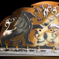 golden menorah 3d model
