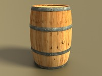 wooden barrel wood 3d model