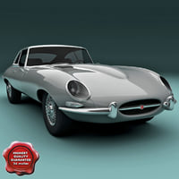 e-type modelled 3d model