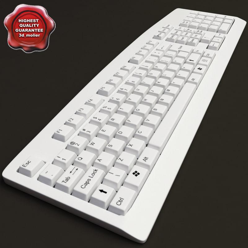 3dsmax keyboard modelled