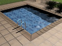 3ds max pool water