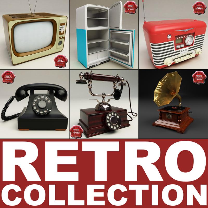 retro electronics v3 3d model