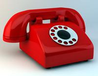 simple rotary phone c4d free