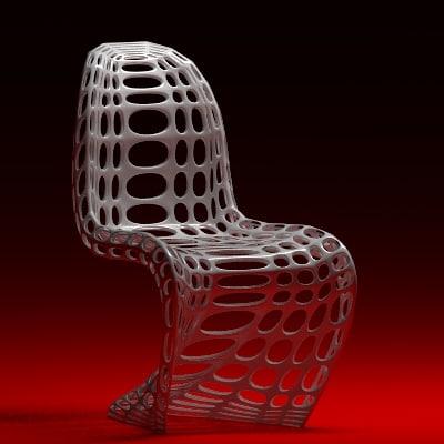 modified pantons chair 3d model