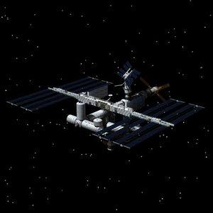 international space station c4d