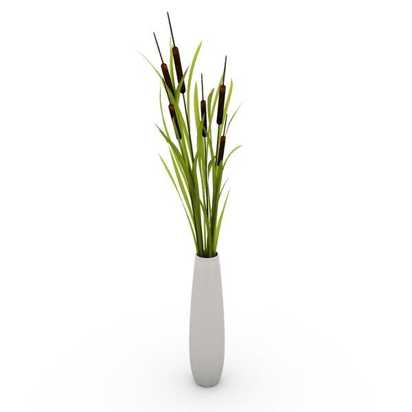 typha vase 3d model