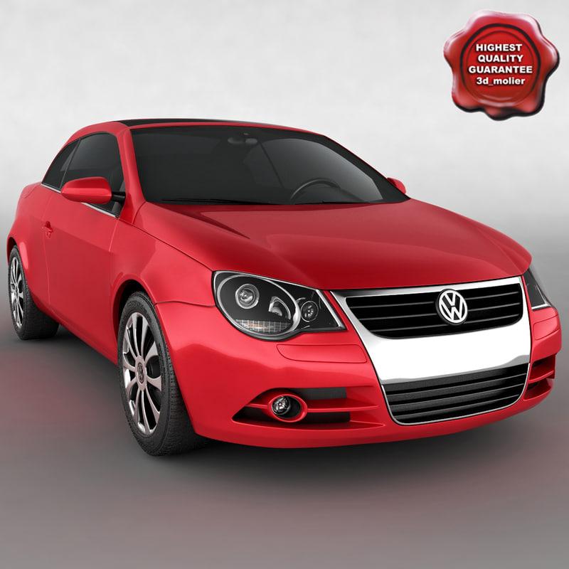 volkswagen eos 3d model